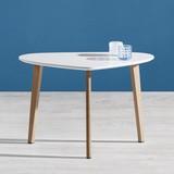 Konferenční Stolek Kimi - bílá/přírodní barvy, Moderní, kov/dřevo (40/70/47cm) - MÖMAX modern living