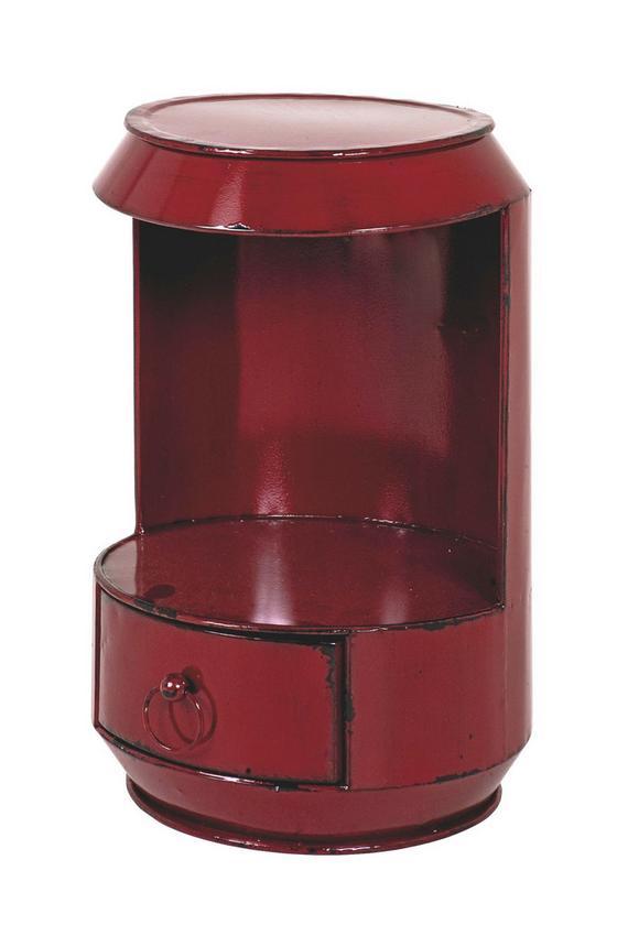 Odkladací Stolík Paula - červená, kov (32/51/32cm)