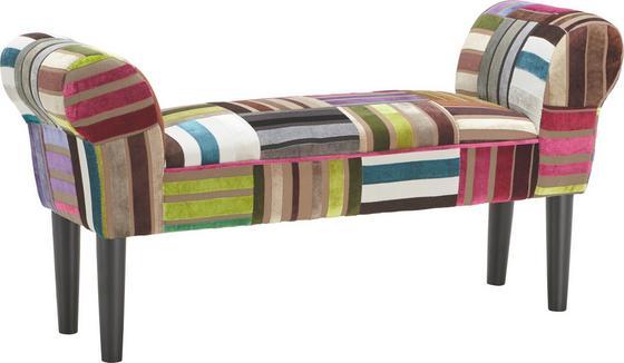 Šatní Lavice Velvet - Multicolor, Lifestyle, dřevo/textil (100/50/32cm)