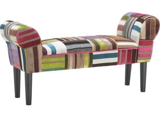 Šatní Lavice Velvet - vícebarevná, Lifestyle, dřevo/textilie (100/50/32cm)