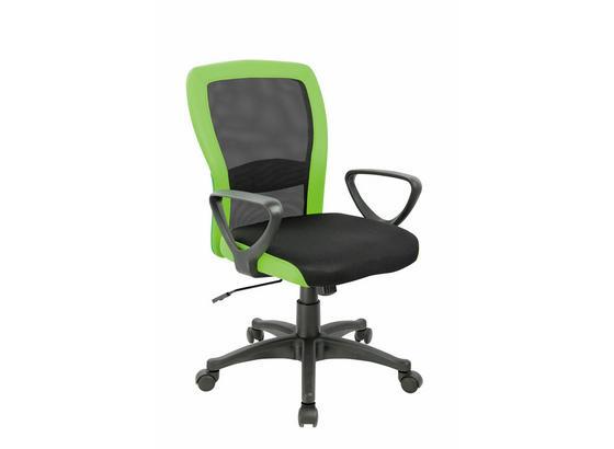 Otočná Židle Petra - černá/zelená, Moderní, kov/kompozitní dřevo (60/91/98,5/57cm)