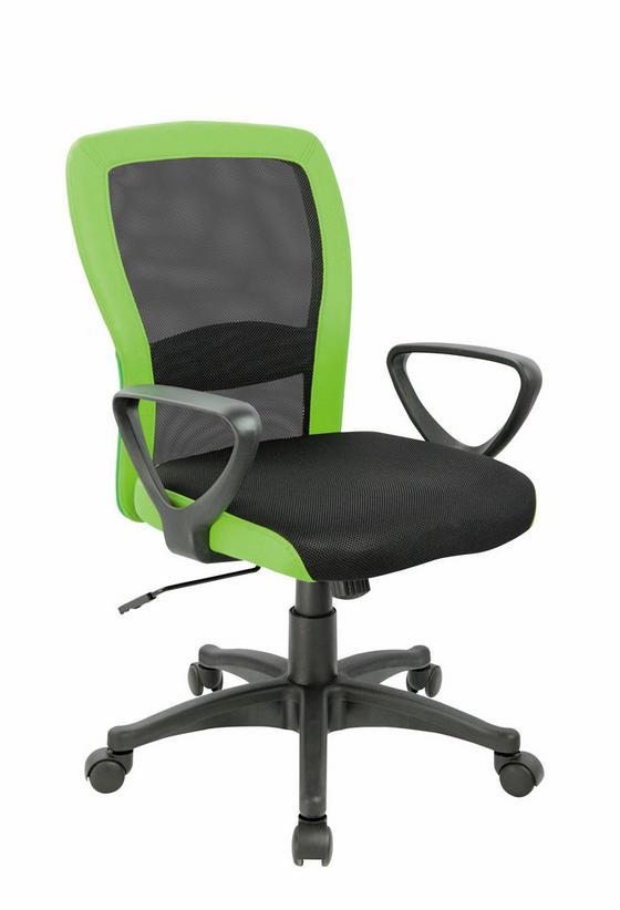 Otočná Židle Petra - černá/zelená, Moderní, kov/textil (60/91/98,5/57cm)