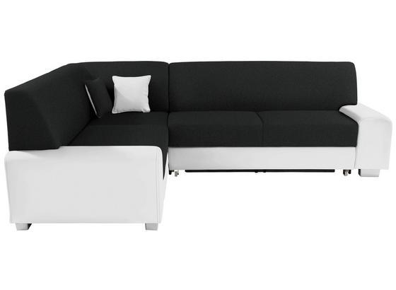 Sedací Souprava Miami - bílá/černá, Basics, dřevo/textil (210/260cm)
