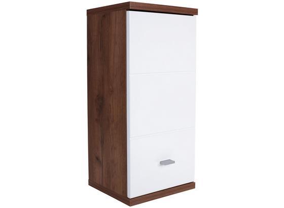Závěsná Skříňka Bari - bílá/barvy dubu, Konvenční, kompozitní dřevo (35/70/25cm)