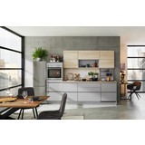 Küchenblock Toronto/Rom B: 275 cm Steingrau/Eiche - Basics, Holzwerkstoff (275cm) - Vertico