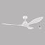 Deckenventilator Antibes - Weiß, MODERN, Kunststoff/Metall (132/30cm)