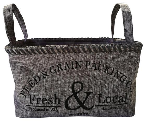 Regalkorb Fresh & Local - Dunkelgrau/Grau, Textil (40/22/30cm) - Luca Bessoni