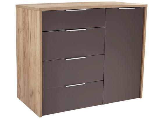 Kommode Terra Taupe Eichefarben Modern Holzwerkstoff 120 89 43cm
