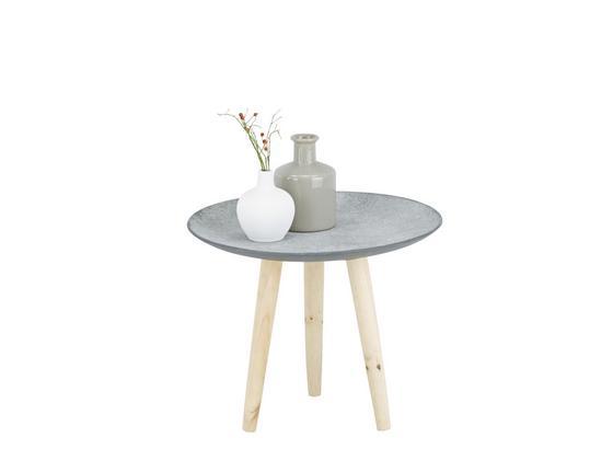 Odkladací Stolík Grey -sb- - prírodné farby/hnedá, drevo/kompozitné drevo (44/35,5/44cm) - Mömax modern living