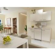 Küchenblock Nepal B:150,5cm Kaschmir Glanz - Kaschmir/Weiß, MODERN, Holzwerkstoff (150,5cm) - MID.YOU