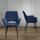 Stolička Valentine - čierna/modrá, Moderný, kov/drevo (66/92/47cm) - Modern Living