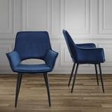 Stolička Valentine - modrá/čierna, Moderný, kov/drevo (66/92/47cm) - Modern Living