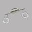 LED-Deckenleuchte Litago Crystal - Weiß/Nickelfarben, MODERN, Kunststoff/Metall (7,5/46cm)