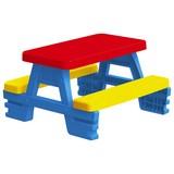 Picknick Tisch Dolu 3008 - Blau/Gelb, MODERN, Kunststoff (71/77/43cm)