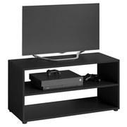TV-Regal Vancouver B: 90 cm Schwarz - Schwarz, KONVENTIONELL, Holzwerkstoff (90/45/39cm) - Livetastic