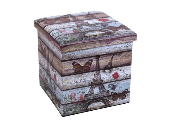 Skládac Box Setta 2 - Moderní, kompozitní dřevo/umělá hmota (37/37/37cm)