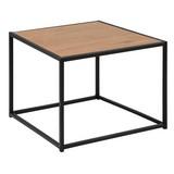 Couchtisch Holz/Stahl Seaford Wildeiche Dekor - Eichefarben/Schwarz, Trend, Holzwerkstoff/Metall (60/40/60cm) - Carryhome