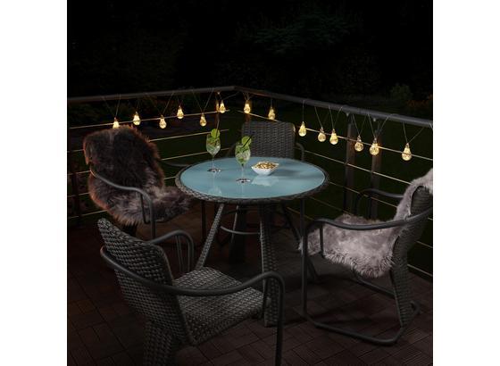 Záhradný Set Christina - tmavosivá, Moderný, kov/plast - Modern Living