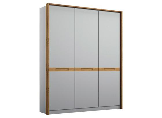 Drehtürenschrank Rangun B: 136 cm Grau - Grau, Basics, Holz/Holzwerkstoff (136/197/54cm)