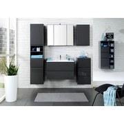Waschtisch Cardiff B: 100 cm Hglz Grau - Graphitfarben/Weiß, Design, Holzwerkstoff/Stein (100/56/47cm)