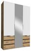 Drehtürenschrank Level 36a 150cm Weiß/eiche - Eichefarben/Weiß, MODERN, Holzwerkstoff (150/216/58cm)