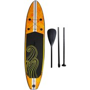 Stand-Up Paddle Board Kaui-Iq Sup275-15s - Schwarz/Orange, MODERN, Kunststoff (275/76/15cm)