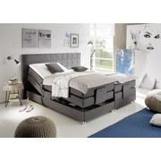 Boxspringbett mit Topper, Elektrisch verstellbar - Anthrazit/Alufarben, Design, Holzwerkstoff/Textil (180/200cm) - MID.YOU