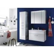 Waschbecken mit Unterschrank Splash B: 80cm Weiß + Hellgrau - Hellgrau/Weiß, Design, Holzwerkstoff/Stein (80/50/46cm) - MID.YOU
