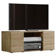 TV-Element Lowina B: 95 cm Sonoma Eiche - Schwarz/Sonoma Eiche, KONVENTIONELL, Holzwerkstoff (95/40/36cm) - MID.YOU