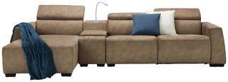 Sedací Souprava Bondi - hnědá, Moderní, dřevo/textil (170/74-92/309cm) - Mömax modern living