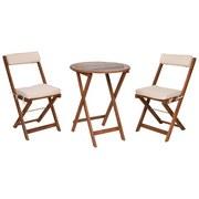 Balkonmöbel Set Akazienholz mit Kissen - Braun, Basics, Holz (90/72/60cm)