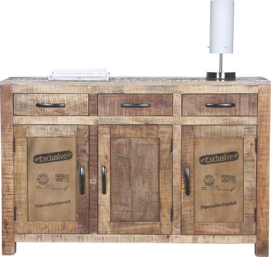 Komoda Sideboard Industry - prírodné farby, Štýlový, drevo (130/86/42cm) - James Wood
