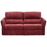 Zweisitzer-Sofa mit Relaxfunktion Cole Webstoff - Beere, KONVENTIONELL, Textil (167/98/107cm) - Novel