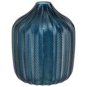 Vase Thery - Blau, MODERN, Glas (18/21,5cm) - Luca Bessoni