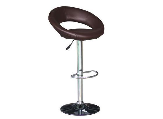 Barová Židle Scott - hnědá, Moderní, kov/dřevo (56/82-103/50cm)