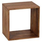 Regal Massivholz Mumbai B 43,5cm, Sheesham - Sheeshamfarben, MODERN, Holz (43,5/43,5/33cm) - MID.YOU