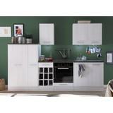 Küchenblock Welcome Landhaus 1 - Weiß, MODERN, Holzwerkstoff (285/206/60cm)
