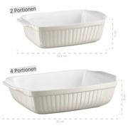 Auflaufformenset Kitchen Time 2er-Set - Beige, Basics, Keramik (29,5/38/14,5cm) - Mäser