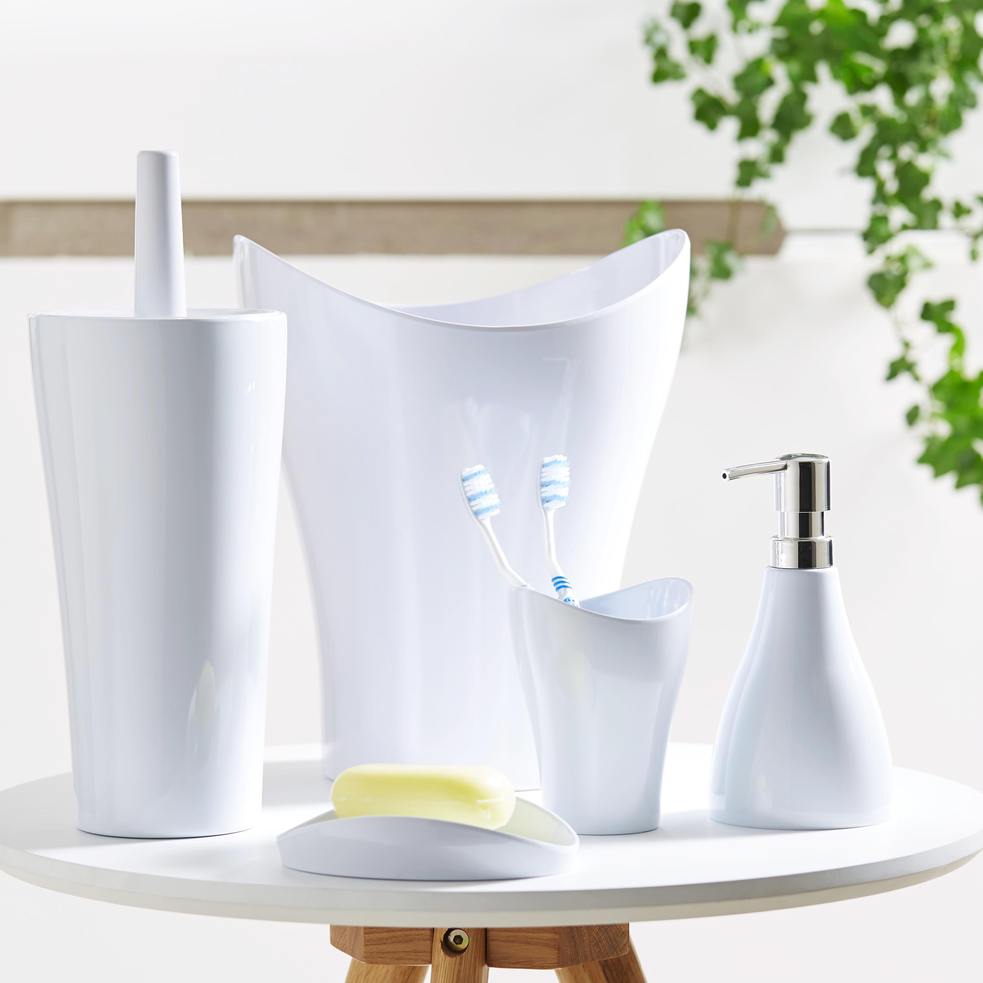 Wc Štětka Bella - bílá, umělá hmota (12,4/32,5cm) - MÖMAX modern living