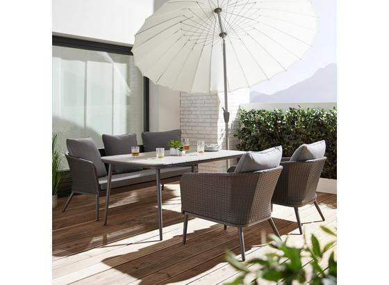 Záhradná Súprava Alla - sivá, Moderný, kov/textil - Modern Living