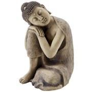 Buddha Ajeet - Creme/Grau, KONVENTIONELL, Stein (23/25/34,5cm) - Ombra