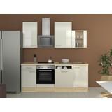 Küchenblock Abaco 220 cm Permutt - Perlmutt/Akaziefarben, MODERN, Holzwerkstoff (220/60cm)