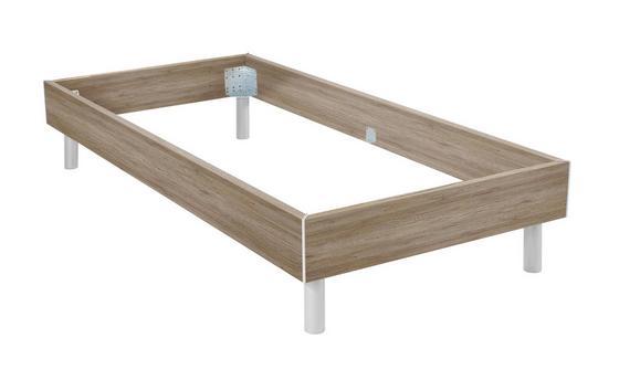 Futonbettrahmen Belia, 90x200 cm - Erlefarben/Alufarben, KONVENTIONELL, Holz (90/200cm)