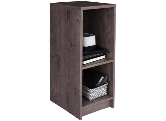 Regál 4-you Yur04 - tmavohnedá, Moderný, kompozitné drevo (30/85,5/34,6cm)