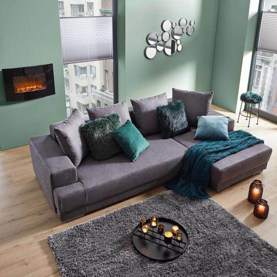 Sedacia Súprava Evie - antracitová, Moderný, drevo/textil (251/150cm) - Modern Living