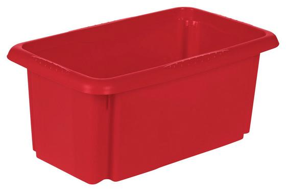 Aufbewahrungsbox Emil - Rot, KONVENTIONELL, Kunststoff (35/20,5/15cm)