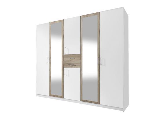 Šatná Skriňa Diver - farby dubu/biela, Konvenčný, drevo/kompozitné drevo (225/210/58cm)