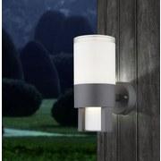 Led Außenleuchte Nexa 12,2 Watt Kunststoff, Wandmontage - Klar/Opal, Design, Kunststoff/Metall (10/15/22,5cm) - Globo