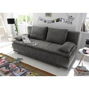 Schlafsofa Luigi Lux.3Dl  B: ca. 208 cm - Silberfarben/Grau, MODERN, Holzwerkstoff/Textil (208/93/105cm) - Carryhome