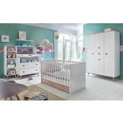 Skriňa Billund - farby dubu/biela, Moderný, drevený materiál/drevo (125/202/55cm) - MODERN LIVING